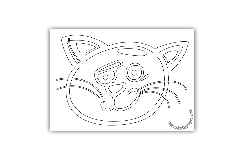 Bored Tomcat Coloring Page