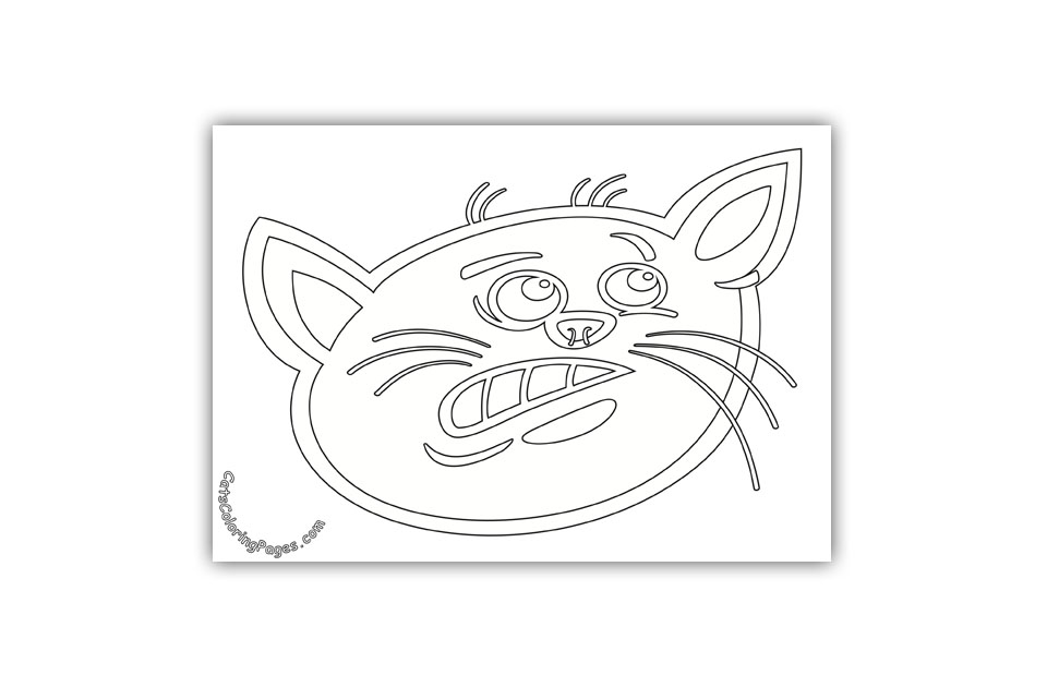 Scared Tomcat Coloring Page