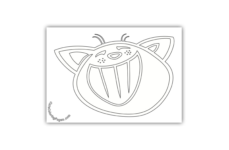 Laughing Cat Coloring Page