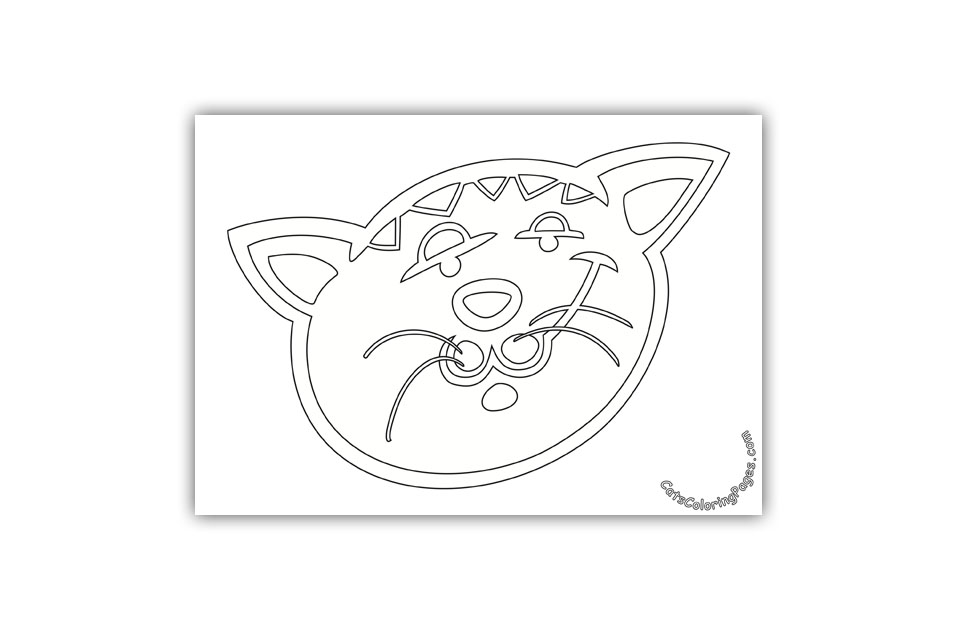 Bored Tabby Tomcat Coloring Page