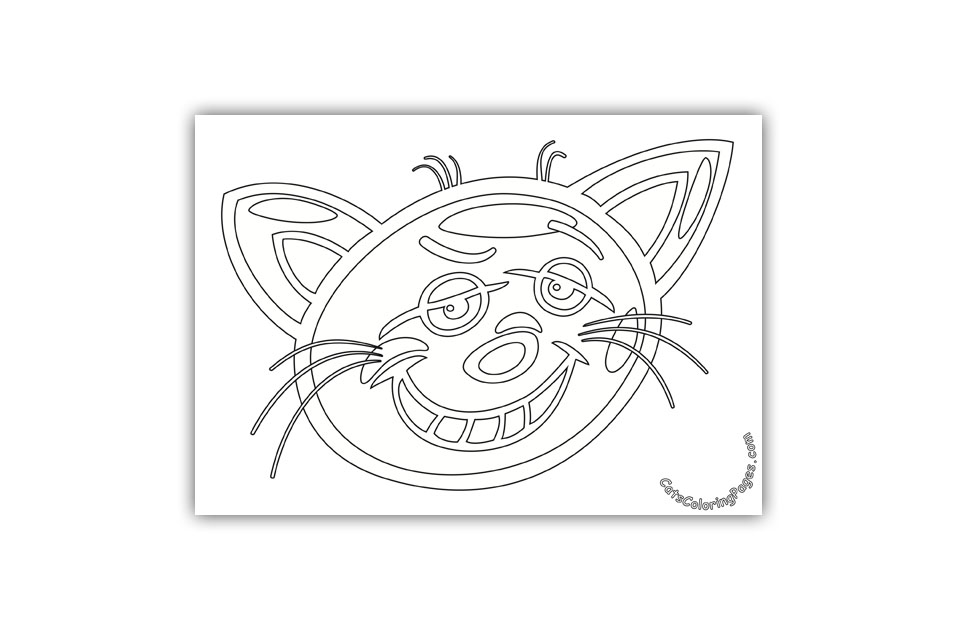 Prankster Cat Coloring Page