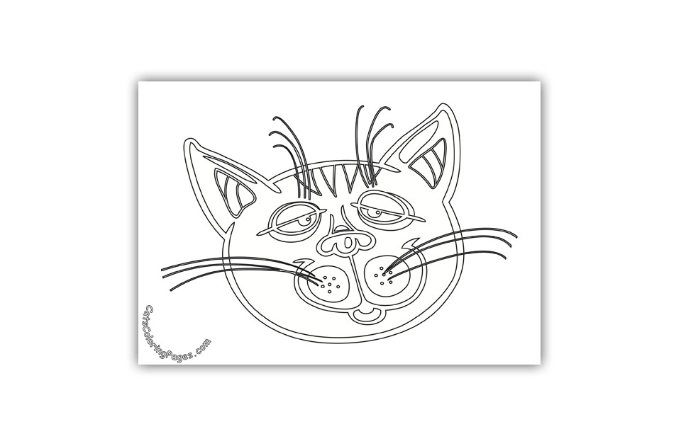 Sleepy Tomcat Coloring Page