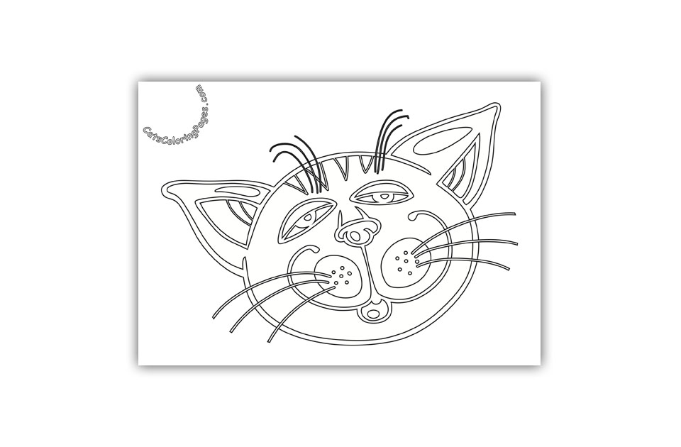 Orange Sleepy Tomcat Coloring Page