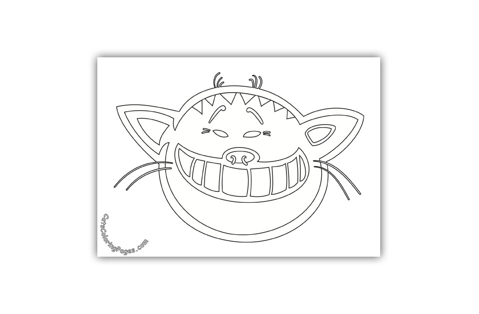 Big Smile Tomcat Coloring Page