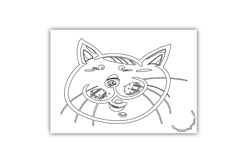 Small Eyed Tomcat Coloring Page