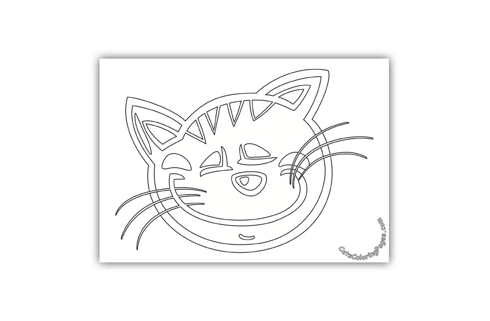 Sleeping Tomcat Coloring Page