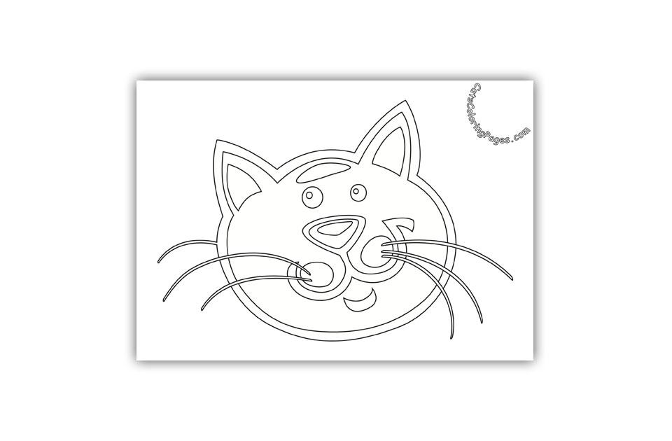 Happy Senior Tomcat Coloring Page
