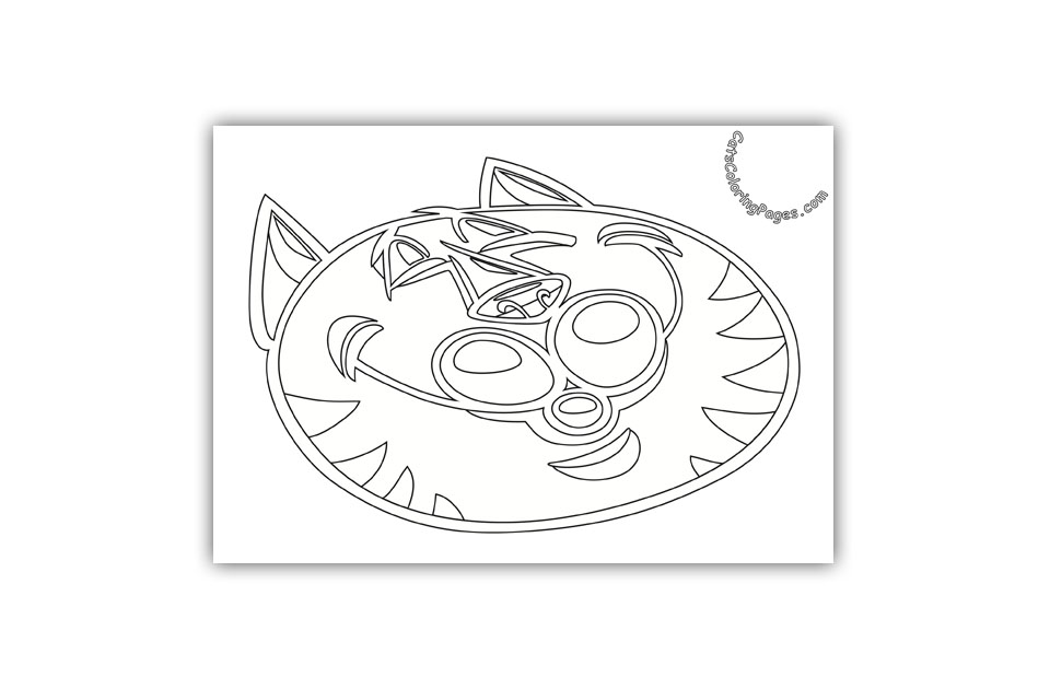 Sleepy Senior Tomcat Coloring Page