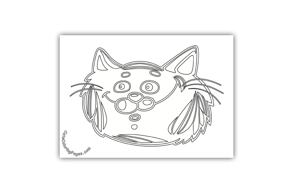 A Surprised Tomcat Coloring Page