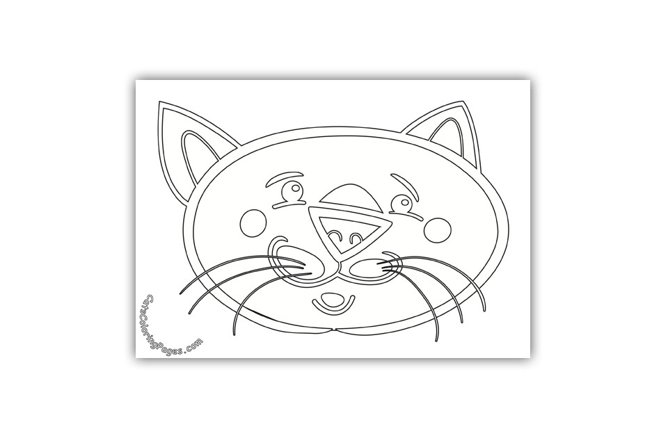 A Sad Tomcat Coloring Page