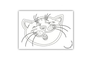 A Tired Tomcat Coloring Page