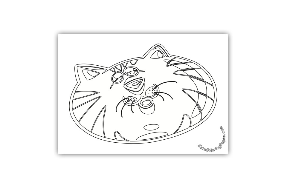 Lazy Tomcat Coloring Page