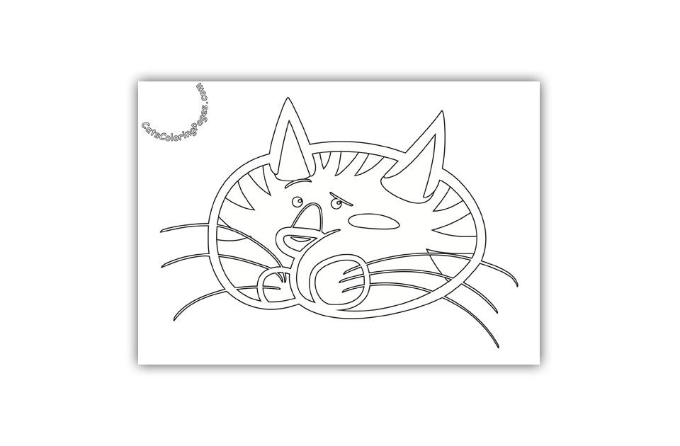 Cat Shaming Coloring Page