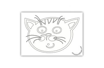 A Very Surprised Cat Coloring Page