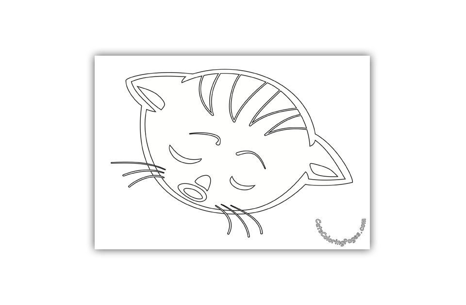 Singing Kitten Coloring Page