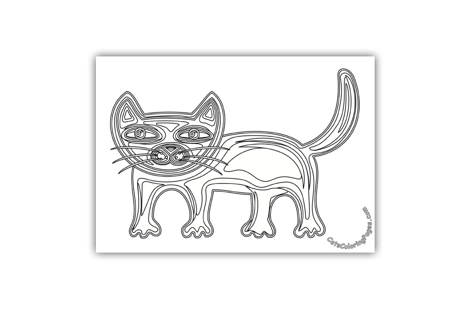 Cute Tomcat Coloring Page