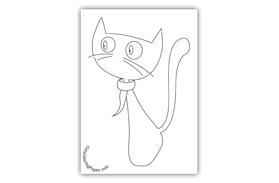 Chilly Cat Coloring Page