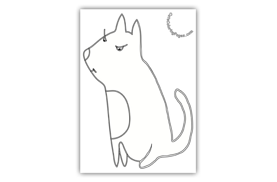 Wise Tomcat Coloring Page