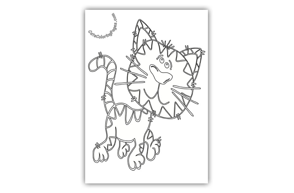 Playful Tiger Tomcat Coloring Page