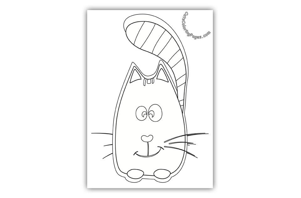 Wise Cat Coloring Page