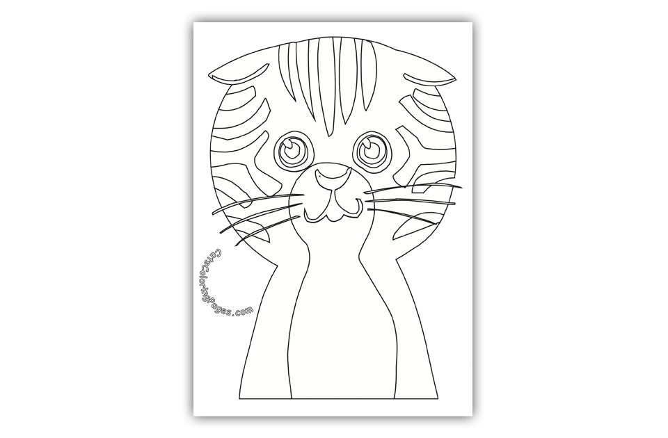 Big Headed Tomcat Coloring Page