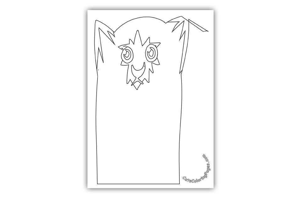 Sad Tomcat Coloring Page