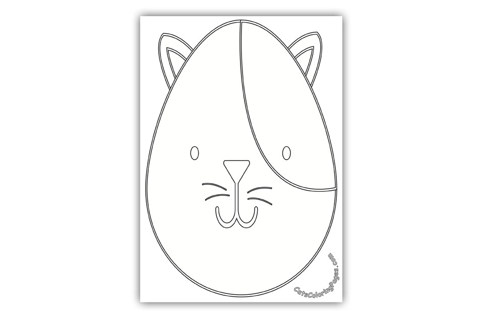 A Cute Tomcat Coloring Page