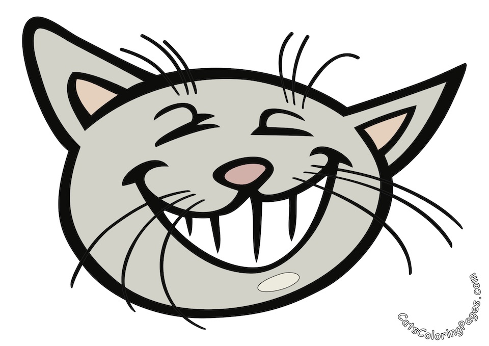 Playful Tomcat Colored Coloring Page