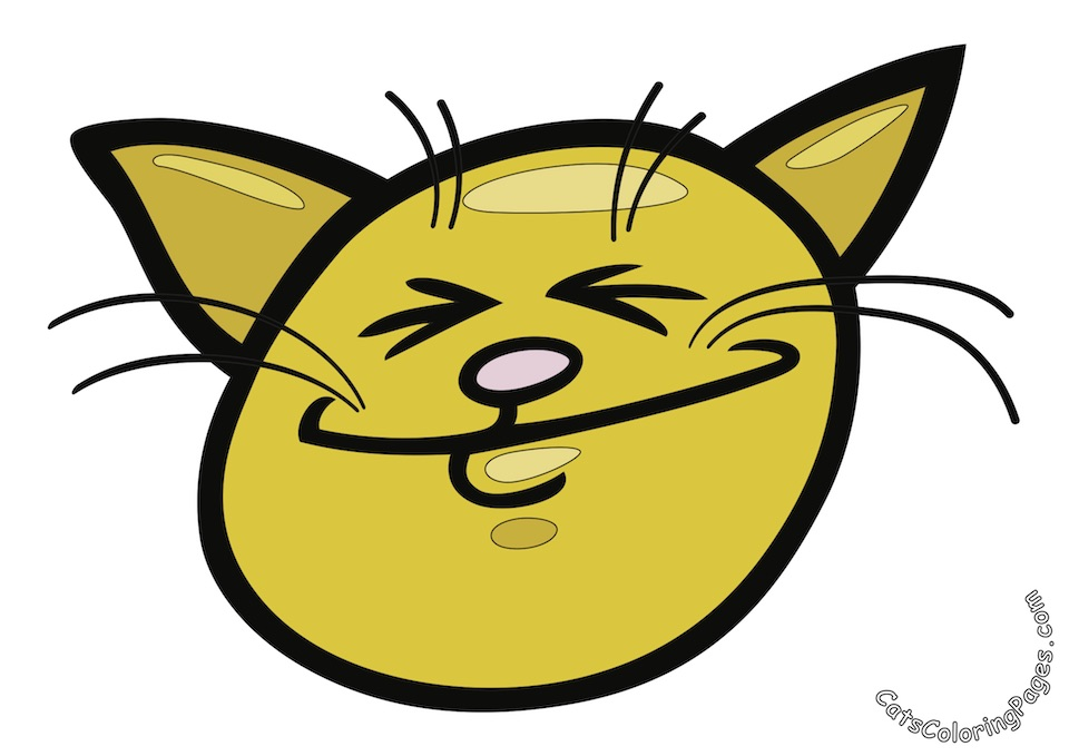 Laughing Tomcat Colored Coloring Page
