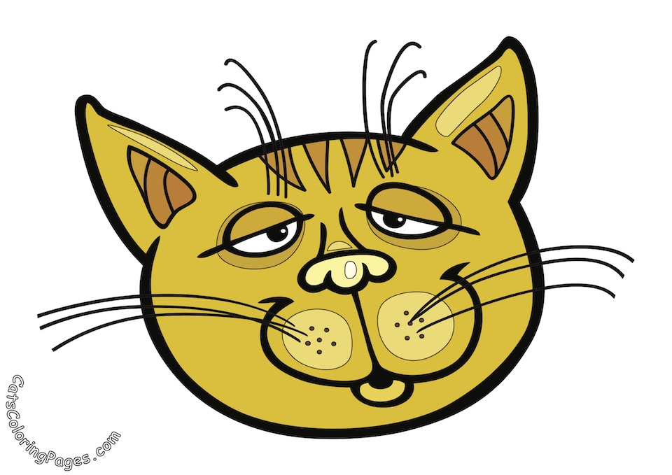 Sleepy Tomcat Colored Coloring Page