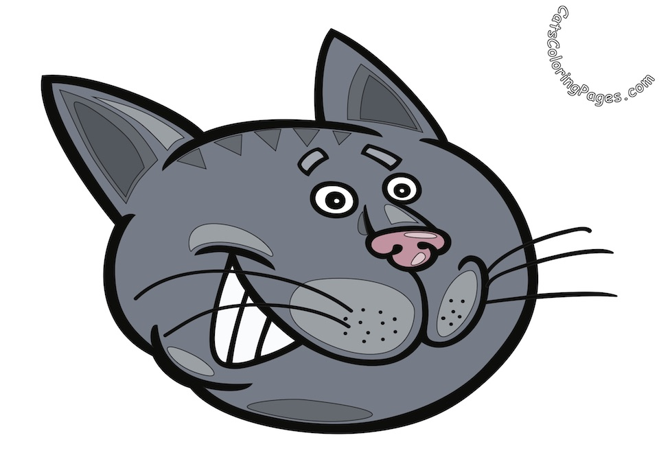Smiling Tomcat Colored Coloring Page