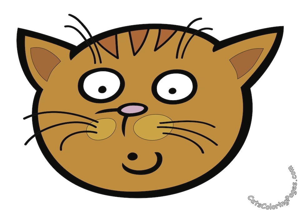 A Very Surprised Cat Colored Coloring Page