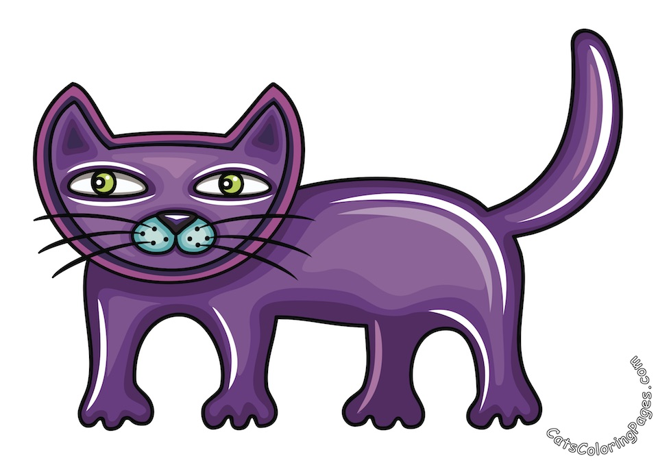 Cute Tomcat Colored Coloring Page