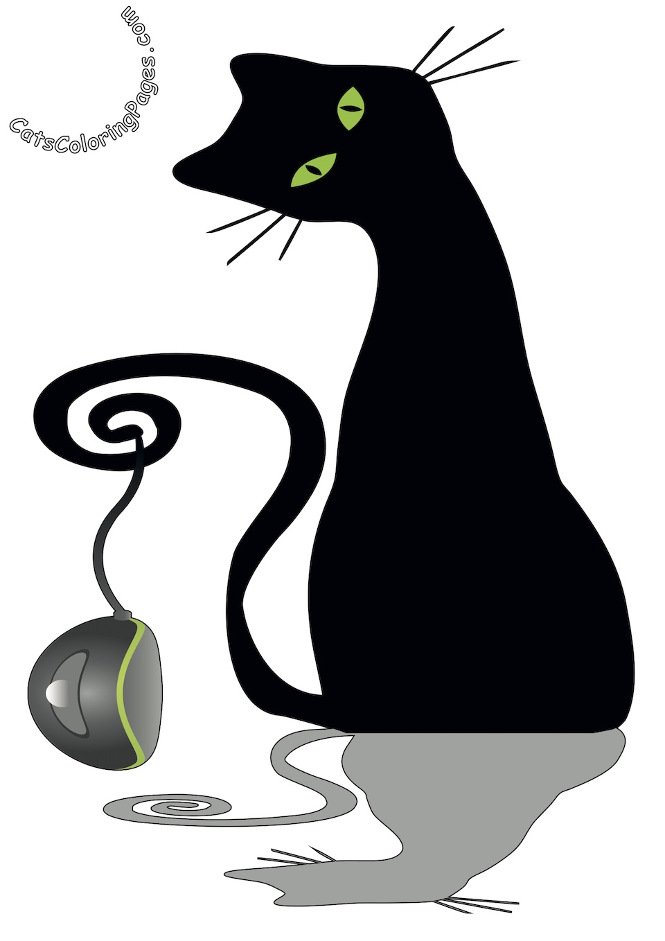 Cat and Mouse Colored Coloring Page