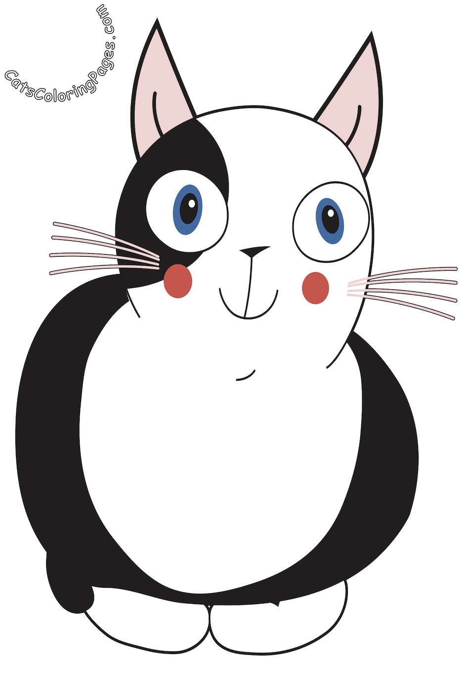 Curious Spotted Cat Colored Coloring Page