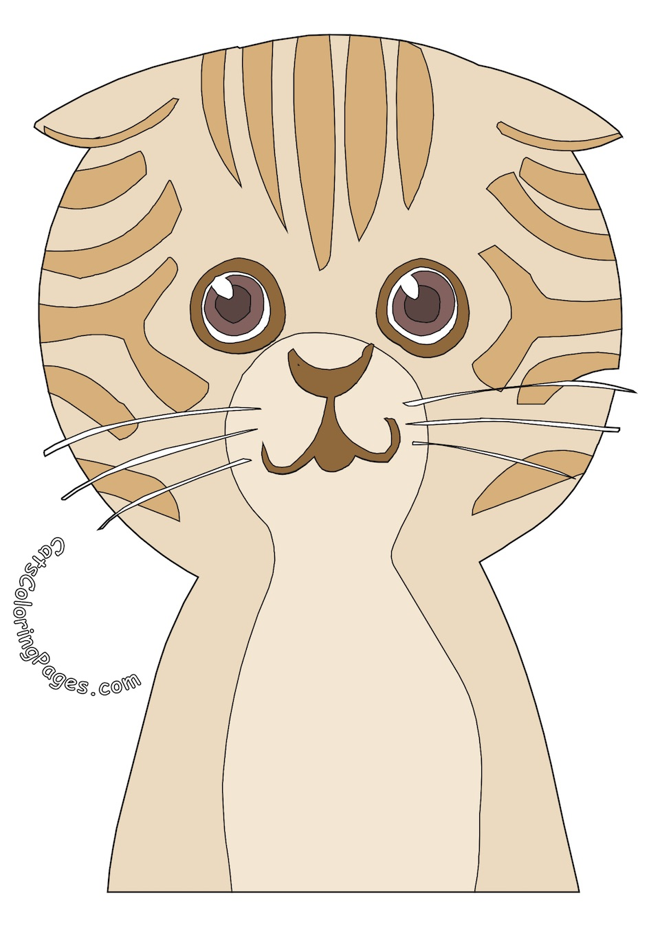 Big Headed Tomcat Colored Coloring Page