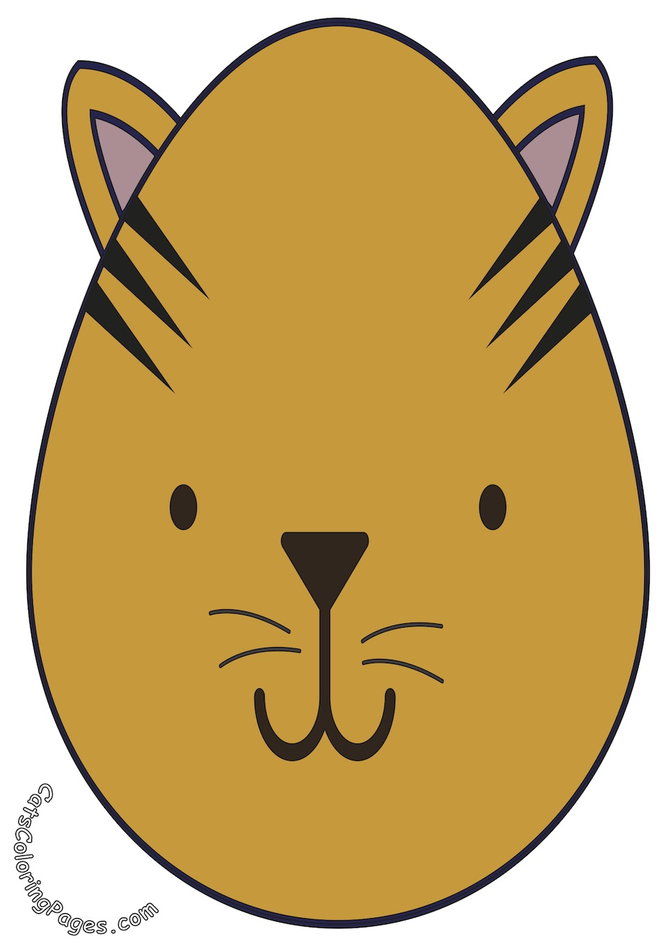 A Very Serious Cat Colored Coloring Page